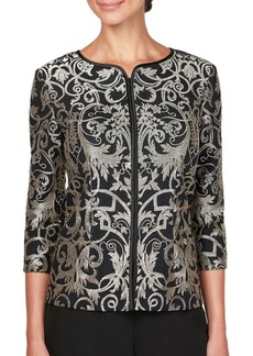 Alex Evenings Stretch Tulle Embroidered Jacket