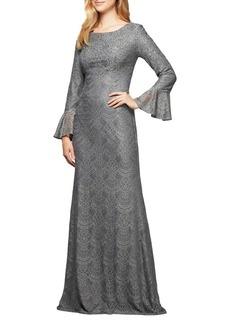 Alex Evenings Studded Long A-Line Dress
