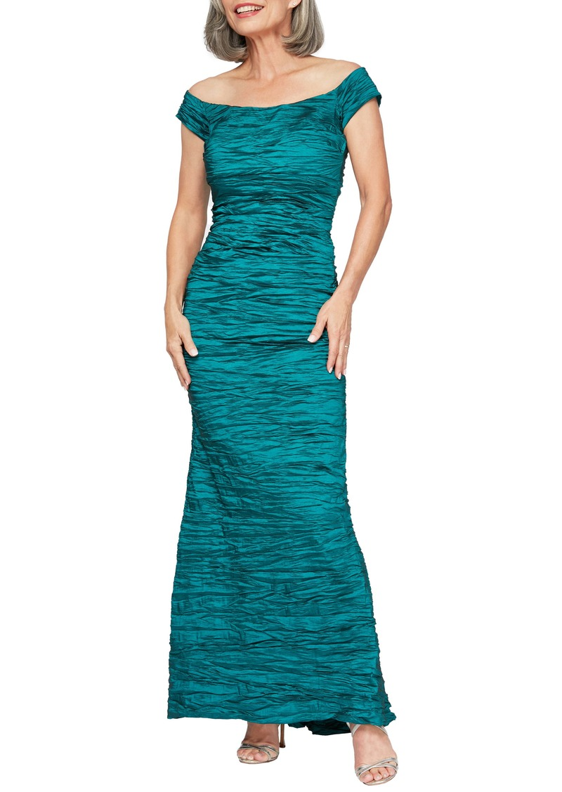 Alex Evenings Taffeta Mermaid Gown