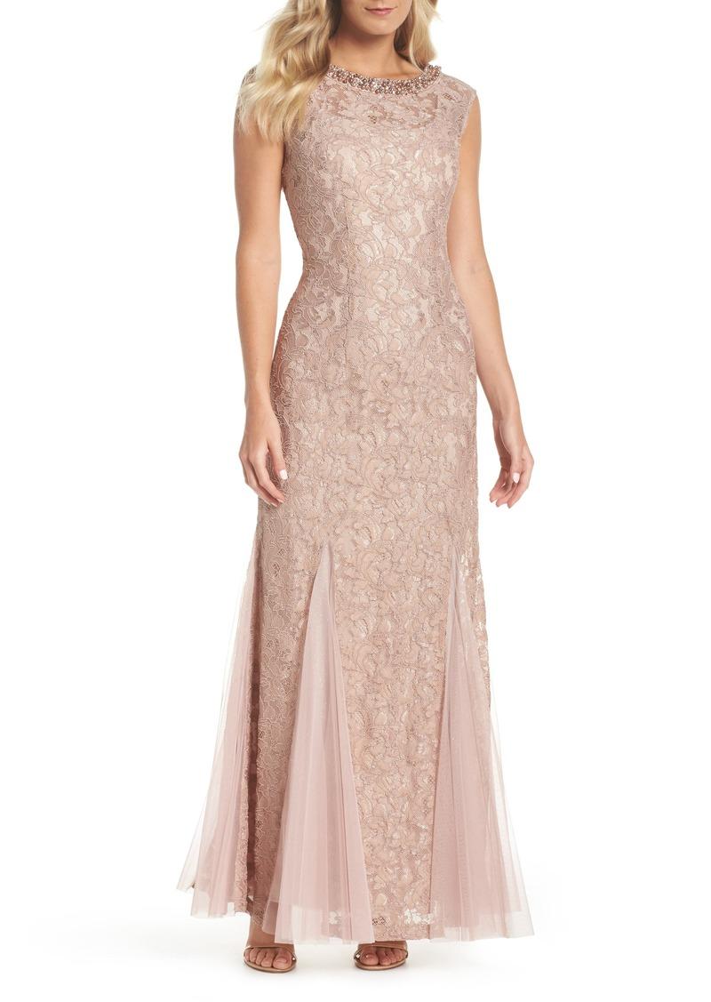 da4d989c Alex Evenings Alex Evenings Tulle & Lace Gown (Regular & Petite ...