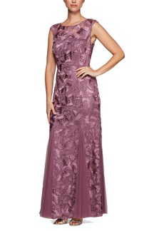 Alex Evenings Tulle Mermaid Gown (Regular & Petite)