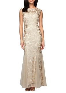 Alex Evenings Tulle Mermaid Gown (Regular & Petite)
