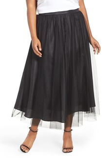 Alex Evenings Tulle Tea Length Skirt (Plus Size)