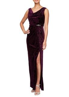 Alex Evenings Velvet A-Line Dress