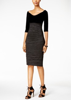Alex Evenings Velvet Bodycon Dress