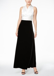 Alex Evenings Velvet Contrast Gown