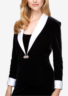 Alex Evenings Velvet Embellished Jacket & Top