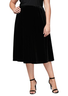 Alex Evenings Velvet Skirt (Plus Size)