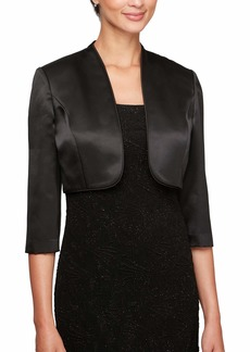 Alex Evenings Women's 3/4 Sleeve Bolero Shrug Jacket Shawl  L