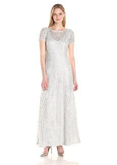 Alex Evenings Women's a-Line Lace Evening Dress