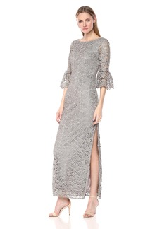 Alex Evenings Women's All Over Lace Long Column Dress (Petite and Regular Sizes)
