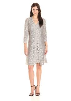 Alex Evenings Women's All Over Lace Shift Jacket Dress