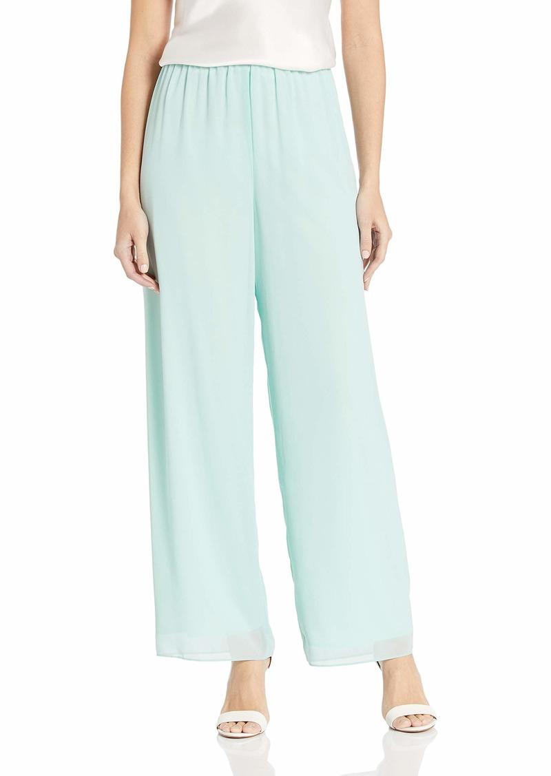 Alex Evenings Women's Asymmetric Chiffon Blouse and Dress Pants (Petite Regular) Mint L