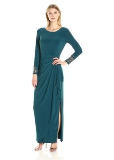 Alex Evenings Women's Beaded Cuff Dress
