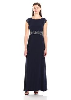 Alex Evenings Women's Beaded Waist Dress