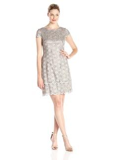 Alex Evenings Women's Cap Sleeve Shift Dress