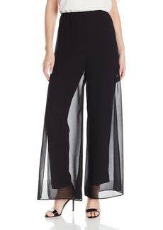 Alex Evenings Women's Chiffon Overlay Pant  L