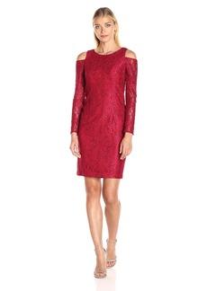 Alex Evenings Women's Cocktail Cold Shoulder Dress