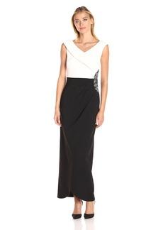 Alex Evenings Women's Colorblock Evening Dress