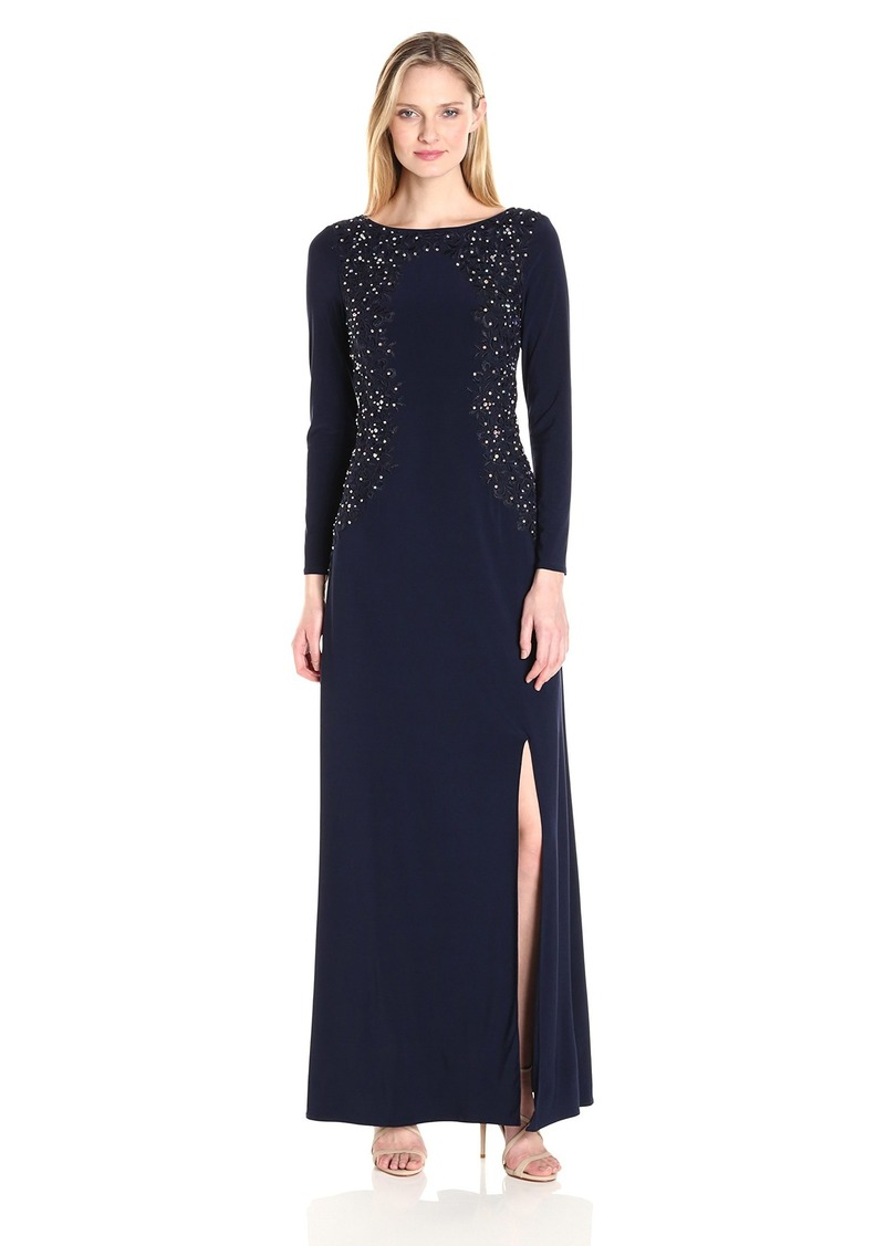 cd3f6f9b0a4 Alex Evenings Alex Evenings Women s Embroidered Evening Dress Now ...