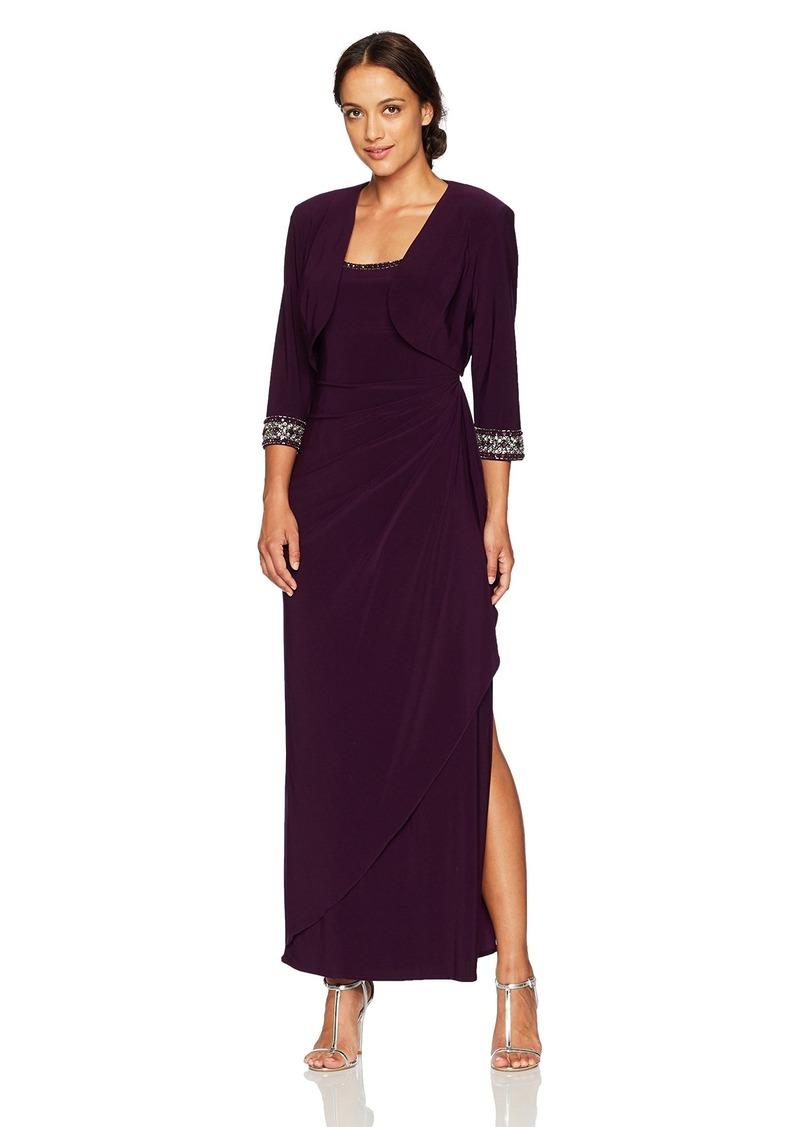 Alex Evenings Women's Empire Waist Bolero Jacket Dress (Petite and Regular Sizes)  8P