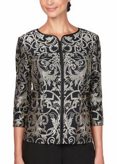 Alex Evenings Women's Evening Elegant Zip Jackets (Missy and Petite)  M
