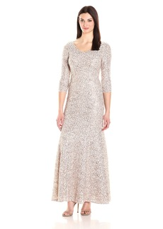 Alex Evenings Women's Fit and Flare Lace Dress