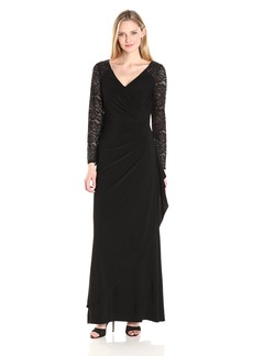 Alex Evenings Women's Illusion Sleeve Evening Dress