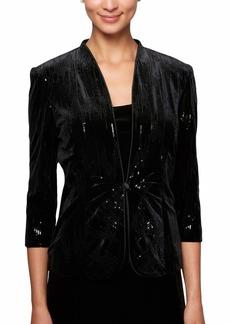 Alex Evenings Women's Jacket and Scoop Tank Top Velvet Twinset Petite Regular  S