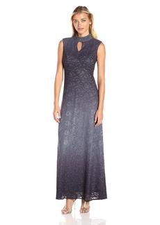 Alex Evenings Women's Jewel Neck Obmre Evening Dress