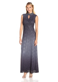Alex Evenings Women's Jewel Neck Obmre Evening Dress