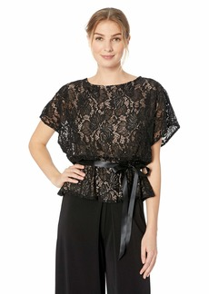 Alex Evenings Women's Lace Blouse Shirt (Missy and Plus)  L