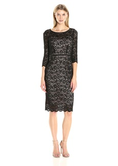 Alex Evenings Women's Lace Cocktail Dress