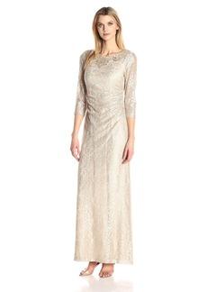 Alex Evenings Women's Lace Column Dress
