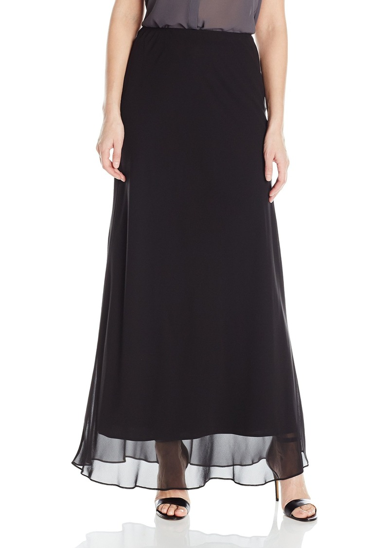 Alex Evenings Women's Long a-Line Chiffon Skirt  S