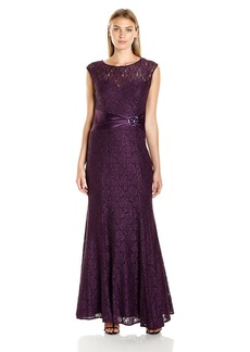 Alex Evenings Women's Long Lace Dress