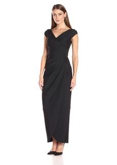 Alex Evenings Women's Long Cap Sleeve Dress with Beaded Detail at Hip