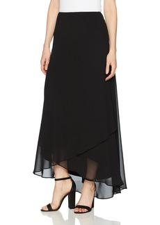 Alex Evenings Women's Long Chiffon Tulip Hem Skirt  L