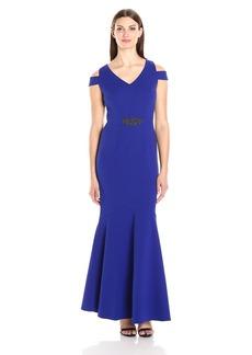 Alex Evenings Women's Long Cold Shoulder Dress