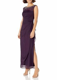 Alex Evenings Women's Long Column Dress with Sweetheart Neck Regular  16P