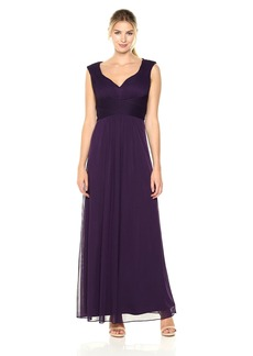 Alex Evenings Women's Long Dress with Sweetheart Neckline and Cutout Back