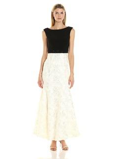 Alex Evenings Women's Long Embellished Waist Dress
