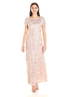 Alex Evenings Women's Long Lace a-Line Gown Dress  18