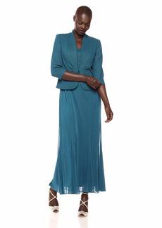 Alex Evenings Women's Long Length Blazer Jacket Dress (Petite and Regular)  14P