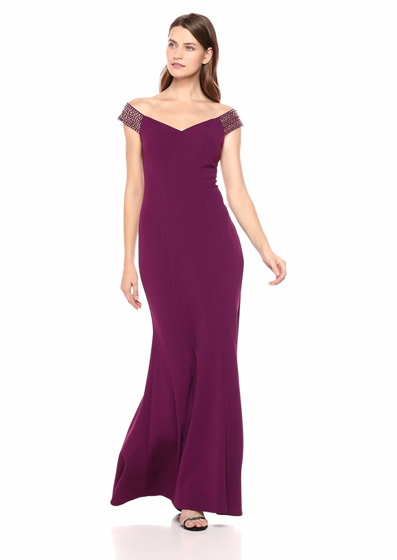 Alex Evenings Women's Long Off The Shoulder Dress
