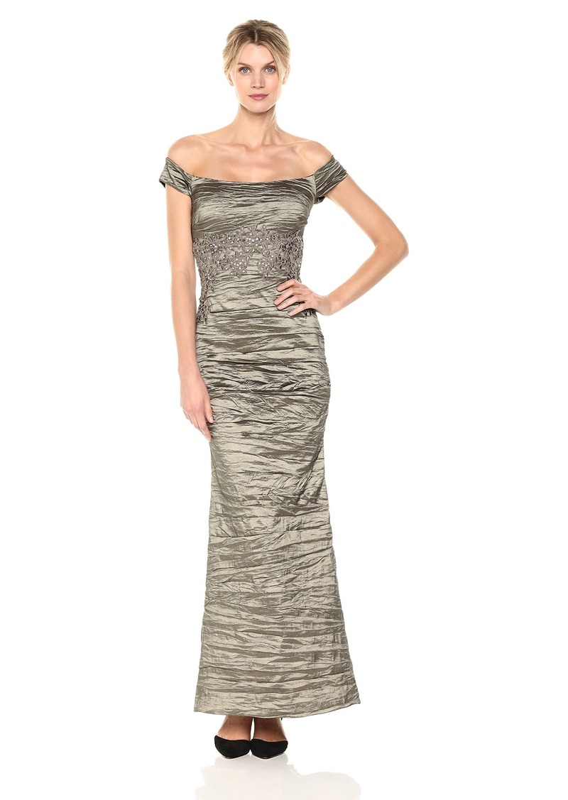Alex Evenings Alex Evenings Women\'s Long Off The Shoulder Dress With ...