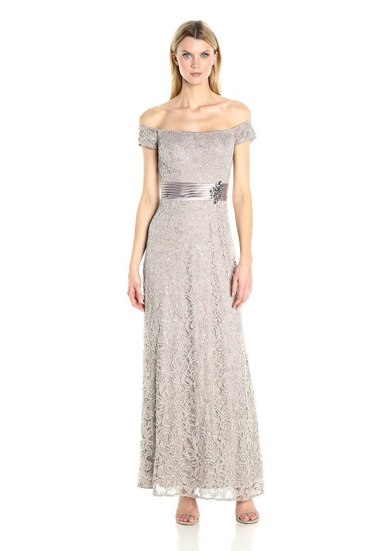 Alex Evenings Off-The-Shoulder Gown