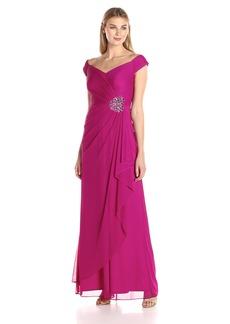 Alex Evenings Women's Long Off the Shoulder Sweetheart Dress