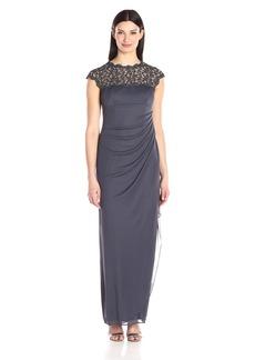 Alex Evenings Women's Metallic Cutout Lace Dress (Petite and Regular Sizes)