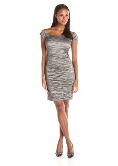Alex Evenings Women's Off The Shoulder Rouched Dress